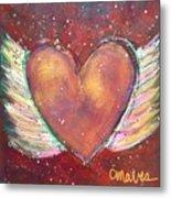 Winged Heart Number 2 Metal Print