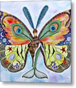 Winged Metamorphosis Metal Print by Lucy Arnold