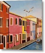 Wingin It In Venice Metal Print