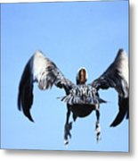 Wings In Position And Flaps Down Metal Print