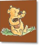 Winnie The Pooh T-shirt Metal Print