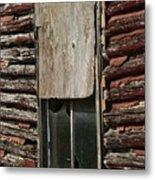 Winslow Cabin Window Metal Print