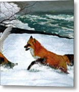 Winslow Homer's, 1893 ' The Fox Hunt ', Revisited 2016 Metal Print