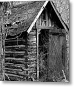 WinslowLogOuthouse-11x17 Metal Print