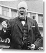 Winston Churchill Campaigning - 1945 Metal Print
