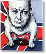 Winston Churchill Holding The Line Metal Print