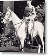 Winston Churchill On Horseback In Bangalore, India In 1897 Metal Print