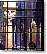 Winter Afternoon At The Cloisters 4 Metal Print