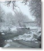 Winter Along Clear Creek Metal Print