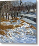Winter Along The Little Sioux Metal Print