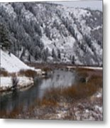 Winter Along The Salt Metal Print