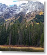 Winter And Fall Mix Metal Print