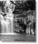 Winter At Big Falls  Metal Print