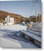 Winter At Bowling Harbour Metal Print