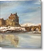 Winter At Eilean Donan Metal Print