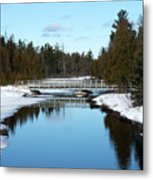 Winter At Hickey Creek Metal Print