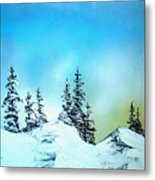 Winter At Lake Tahoe In California Metal Print