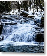 Winter At Mill Creek Falls No. 1 Metal Print