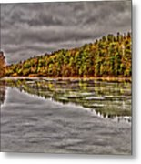 Winter At Pine Lake Metal Print
