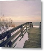 Winter At The Beach Metal Print