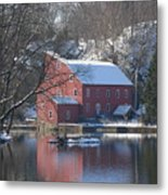 Winter At The Clinton Mill Metal Print