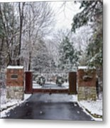 Winter At The Gate Metal Print
