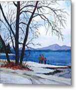 Winter At The Lake Metal Print