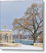 Winter At The Waterworks Metal Print