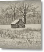 Winter At Valley Forge Metal Print