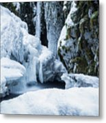 Winter At Virgin Creek Falls Metal Print