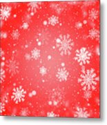 Winter Background With Snowflakes. Metal Print
