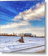 Winter Barn 3 - Paint Metal Print