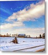Winter Barn 3 Metal Print