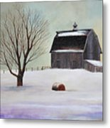 Winter Barn II Metal Print