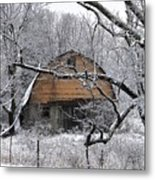 Winter Barn Iv Metal Print