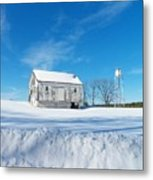 Winter Barn Metal Print by Joyce Kimble Smith
