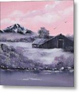 Winter Barns Metal Print by Cynthia Adams