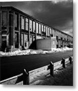 Winter Bates Mill Metal Print