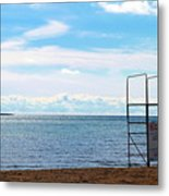 Winter Beach Metal Print