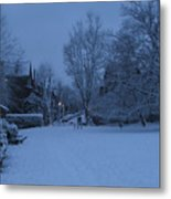 Winter Blue Britain Metal Print