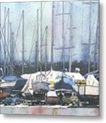 Winter Blues, Sal Boats, Boating Paintings, Boat Paintings, Boat Prints Metal Print