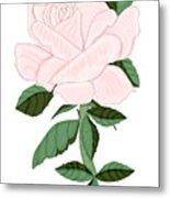 Winter Blush Rose Metal Print