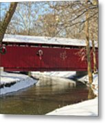 Winter Bridge  Metal Print
