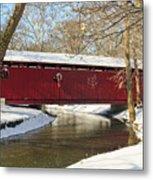 Winter Bridge  Metal Print