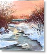 Winter Brook Metal Print