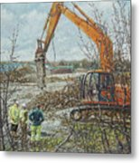 Winter Building Site Breaker Metal Print