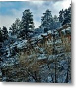 Winter Cliff Metal Print
