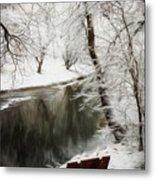 Winter Contemplation Watercolor Painting Metal Print