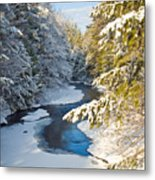 Winter Creek In Morning Light Metal Print