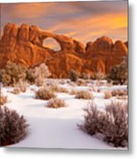 Winter Dawn At Arches National Park Metal Print by Utah Images